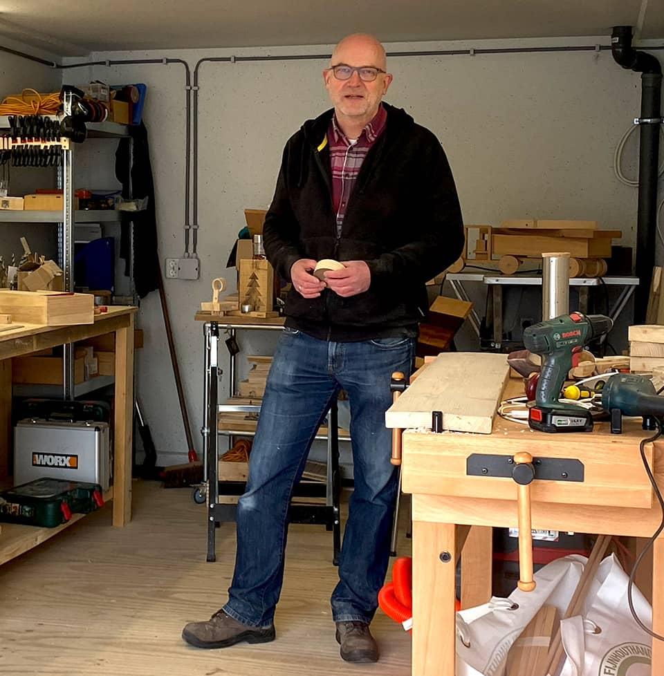 Ed Engbers in zijn werkplaats - anmata store